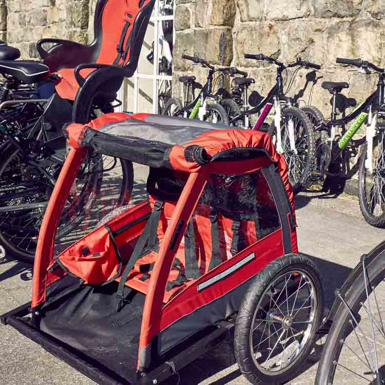 Dolgellau Cycles Bike Hire Children's Trailers & Child Seats